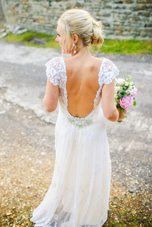 back of bride dress