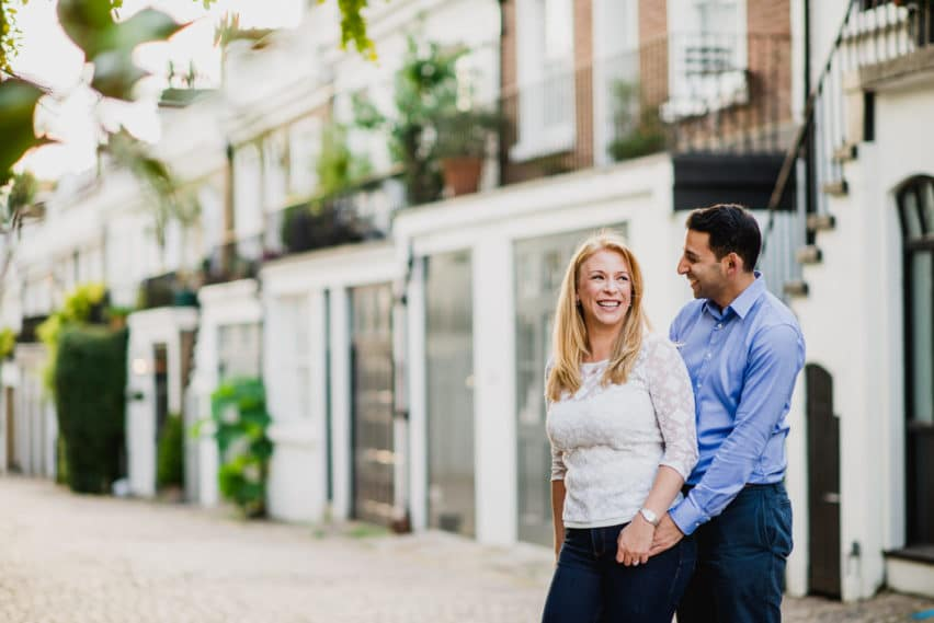 London mews couple shoot