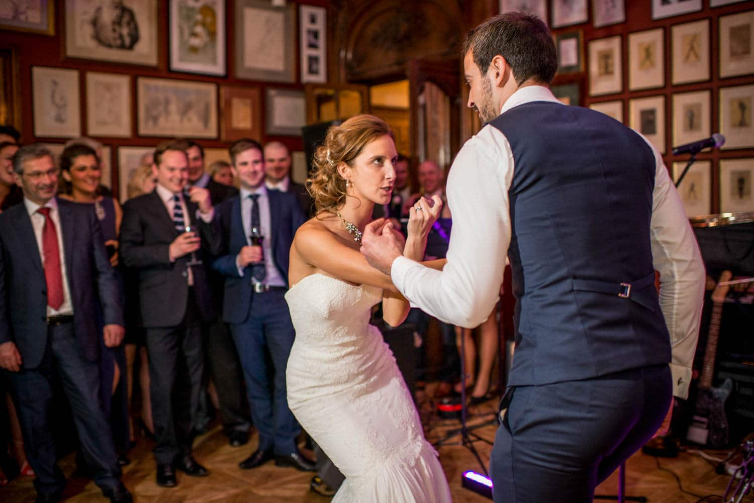bride and groom dancing at The savile club