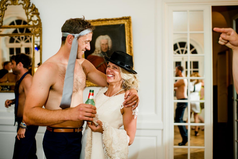 party at Chateau de Lacoste wedding