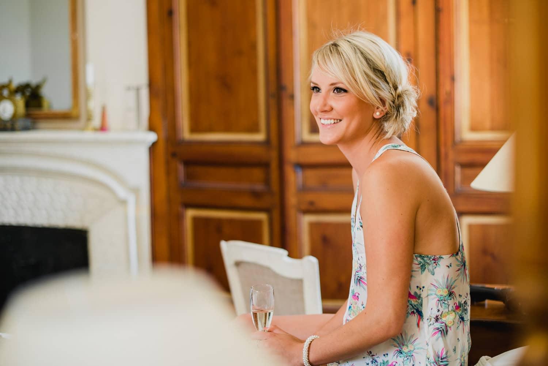 bridesmaid at Chateau de Lacoste wedding