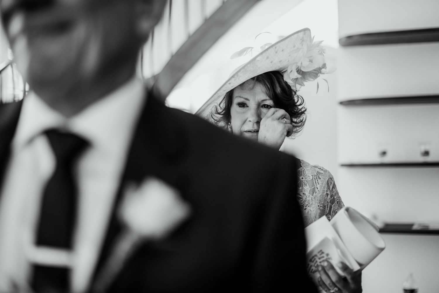 mother of bride with tear in her eye