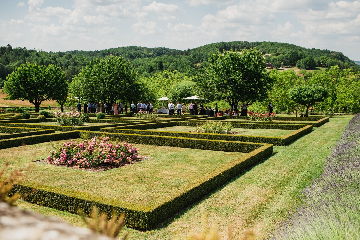 gardens at Chateau de Lacoste wedding venue