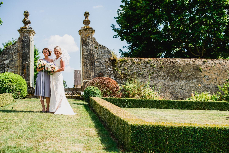 walled garden at Chateau de Lacoste wedding venue