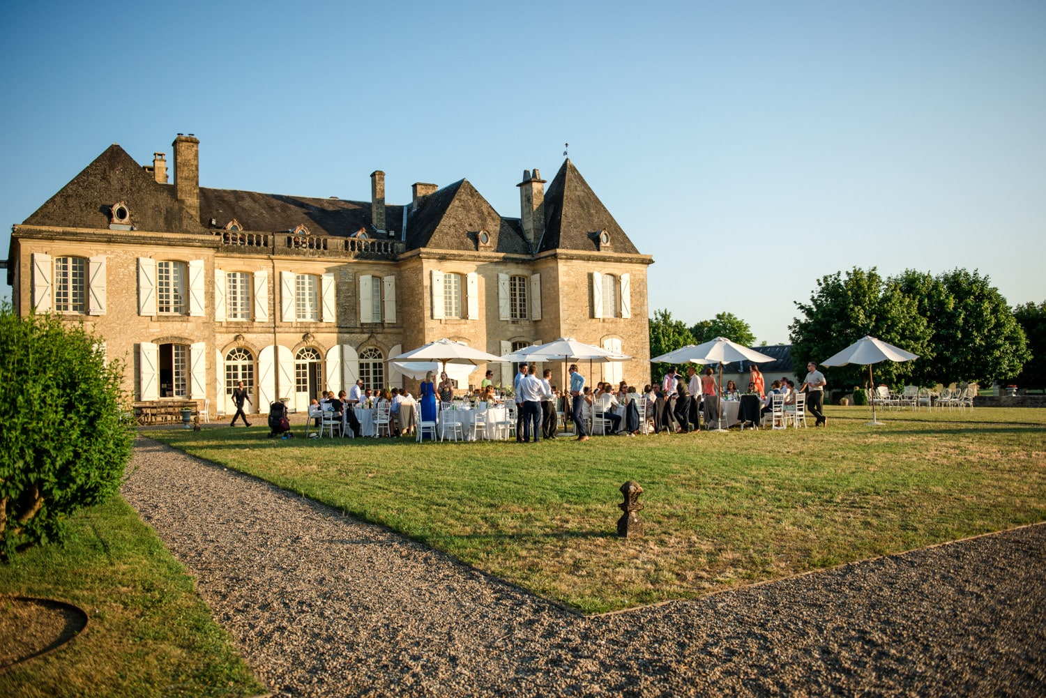 exterior of Chateau de Lacoste wedding venue