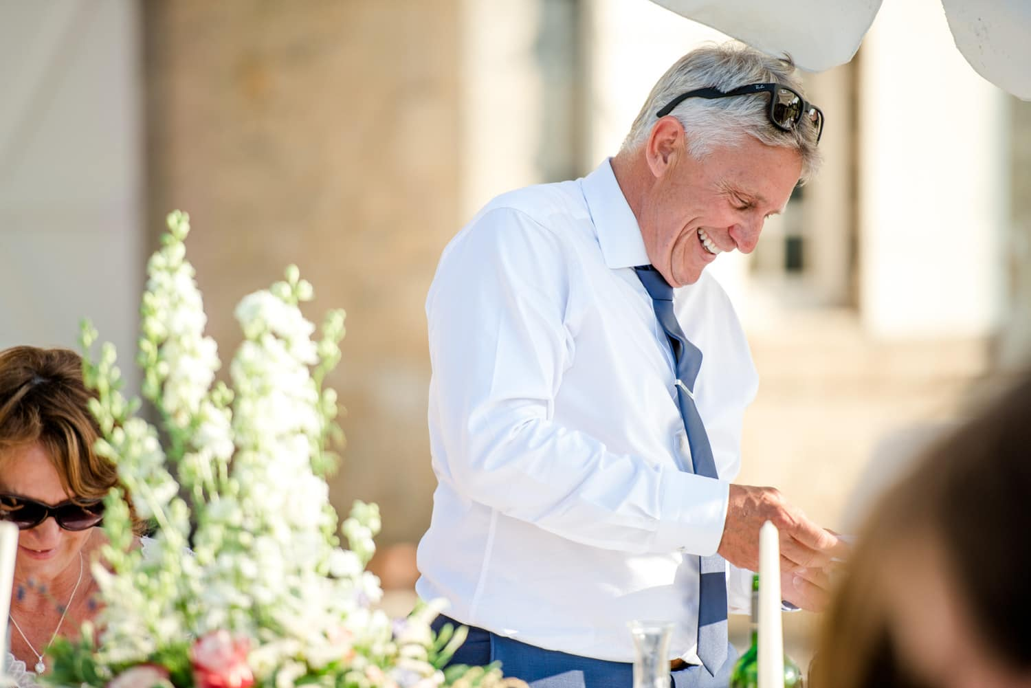 wedding speeches at Chateau de Lacoste