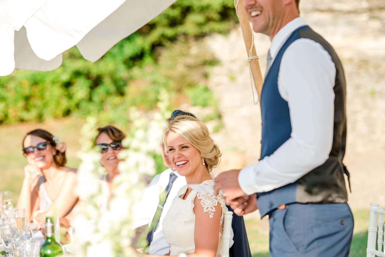 wedding speeches at Chateau de Lacoste wedding