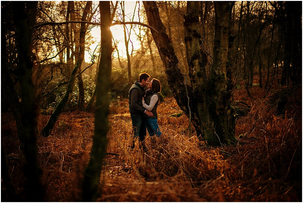 Engagement Sessions in Surrey, woodland