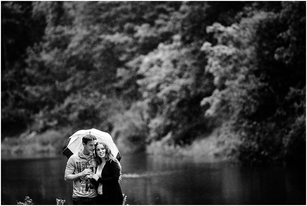 Rainy engagement sessions