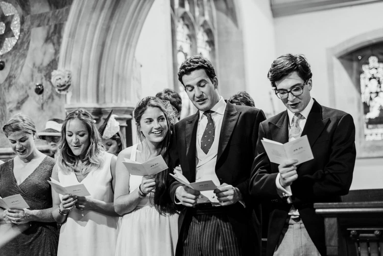 singing hymns at wedding