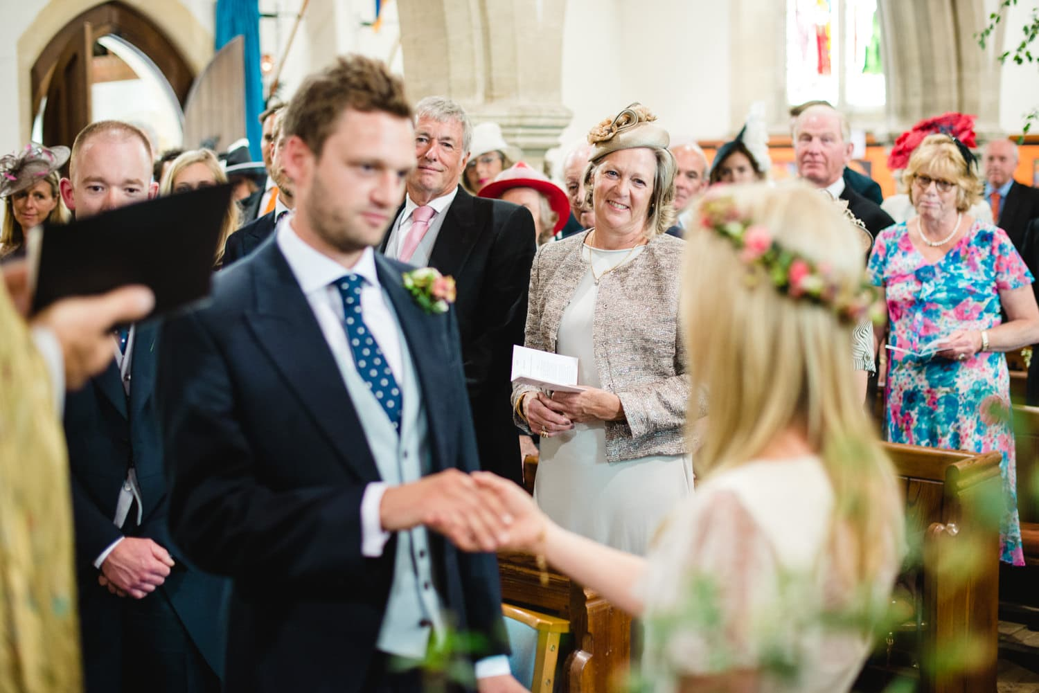 Dorset country wedding church ceremony