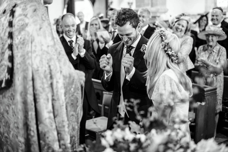 Dorset country wedding church ceremony