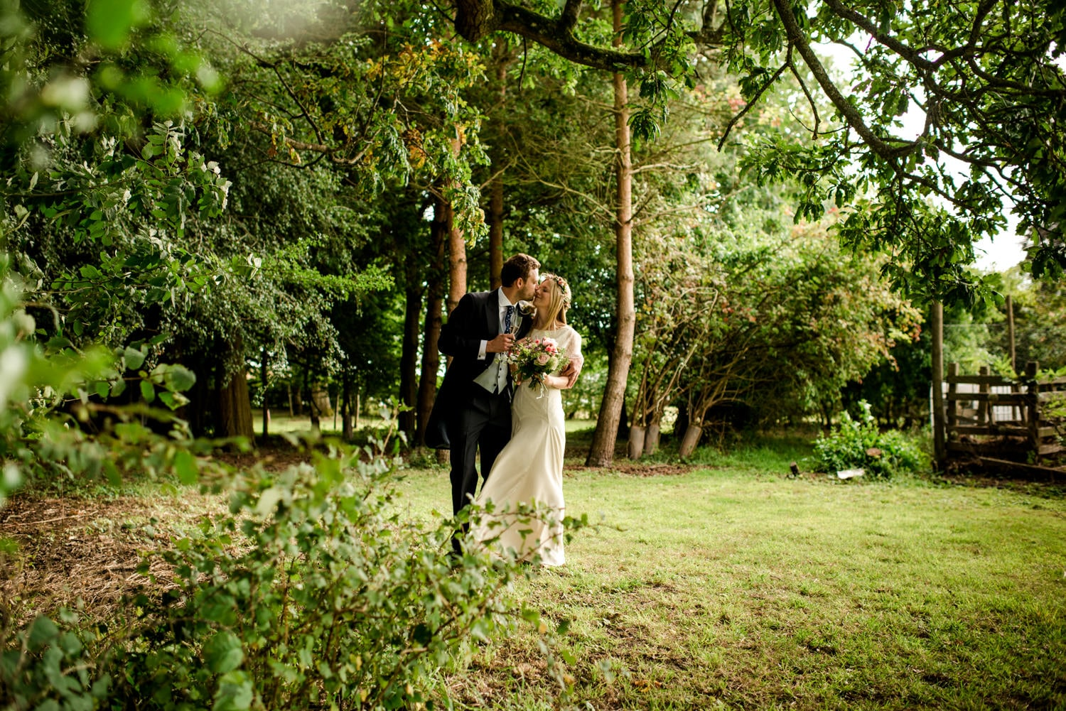 Dorset country wedding bride and groom portraits