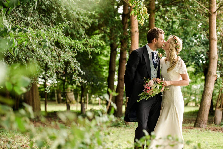 Dorset country wedding bride and groom portraits