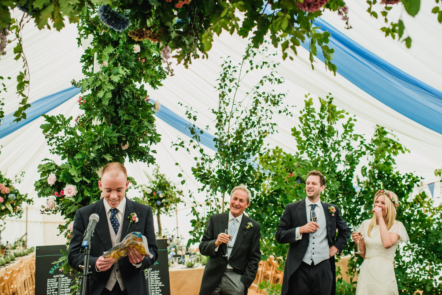 Dorset Country wedding speeches