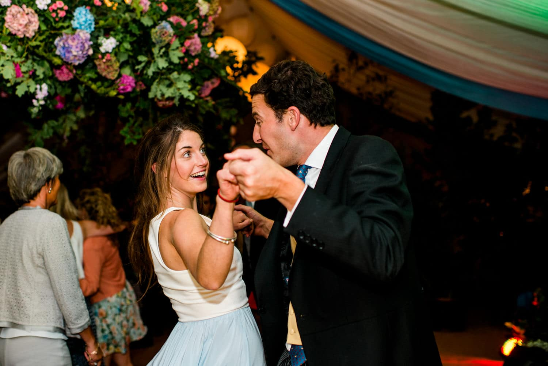 Dorset country wedding party
