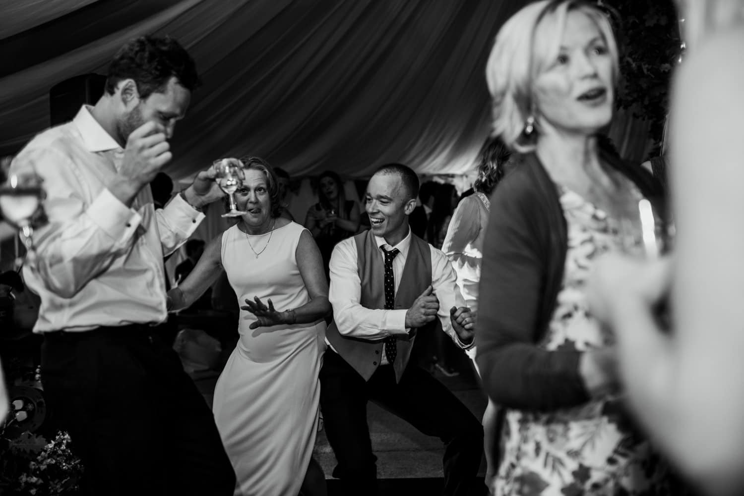 guests on dancefloor