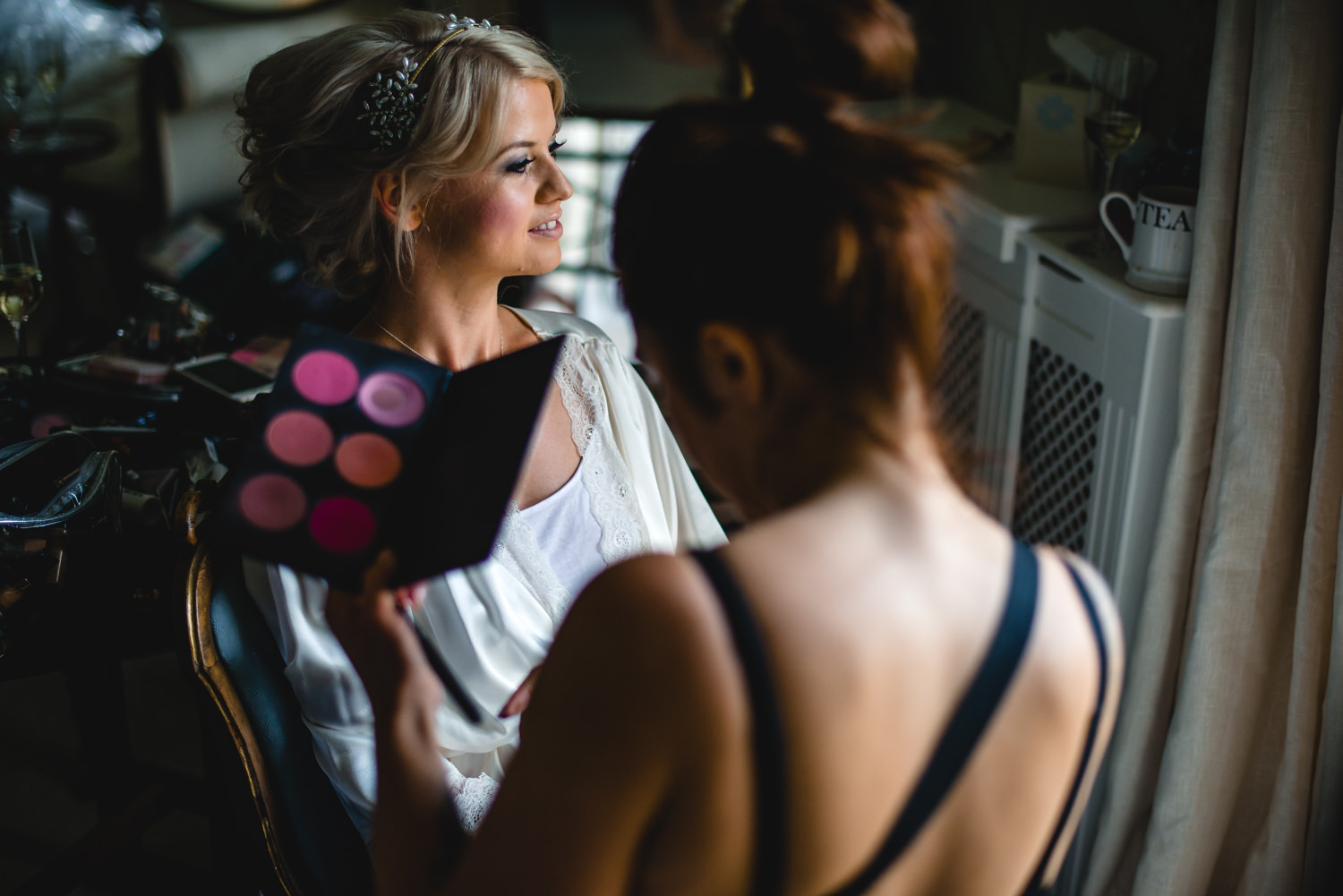 Bride getting ready at Pennard House