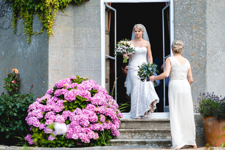 Bridal preparations at Pennard House Somerset