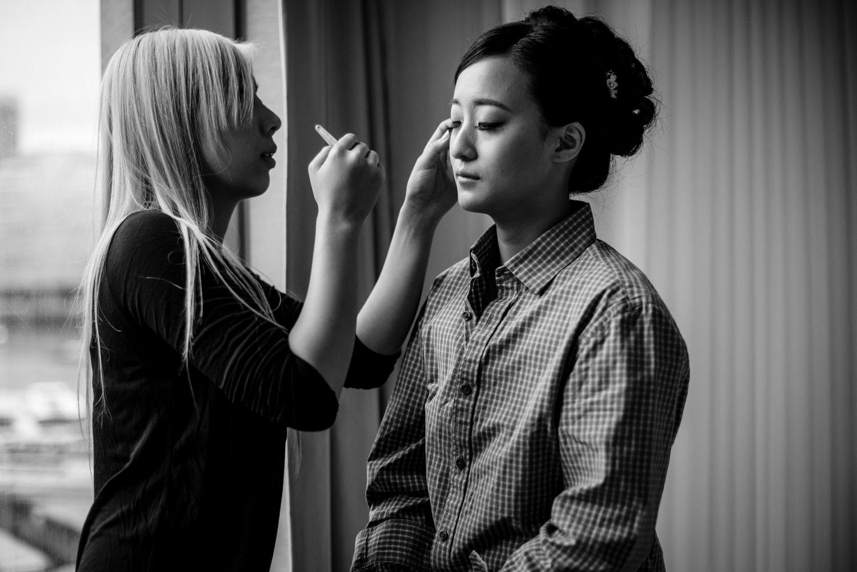 Bridal preparations at Hotel 41 London