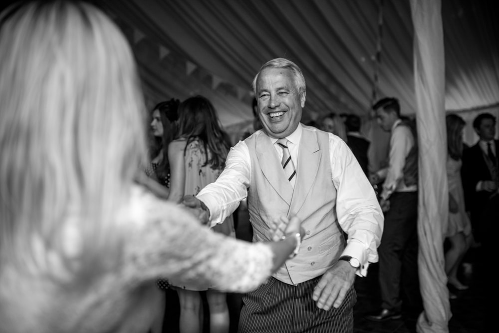 Father of groom on dance floor