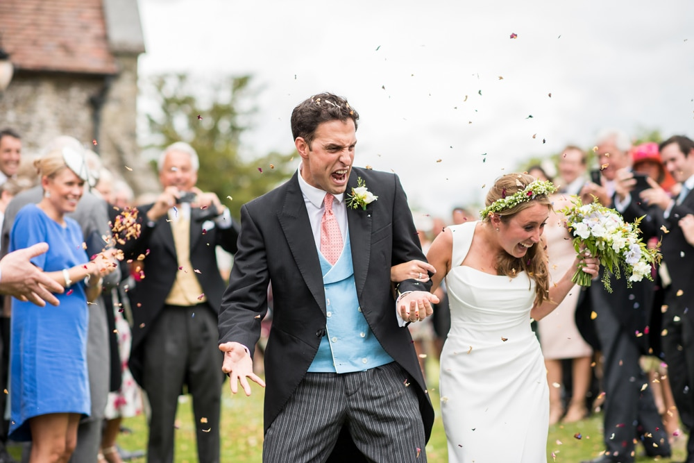 comical confetti moment