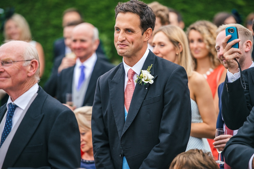 Groom during the speeches