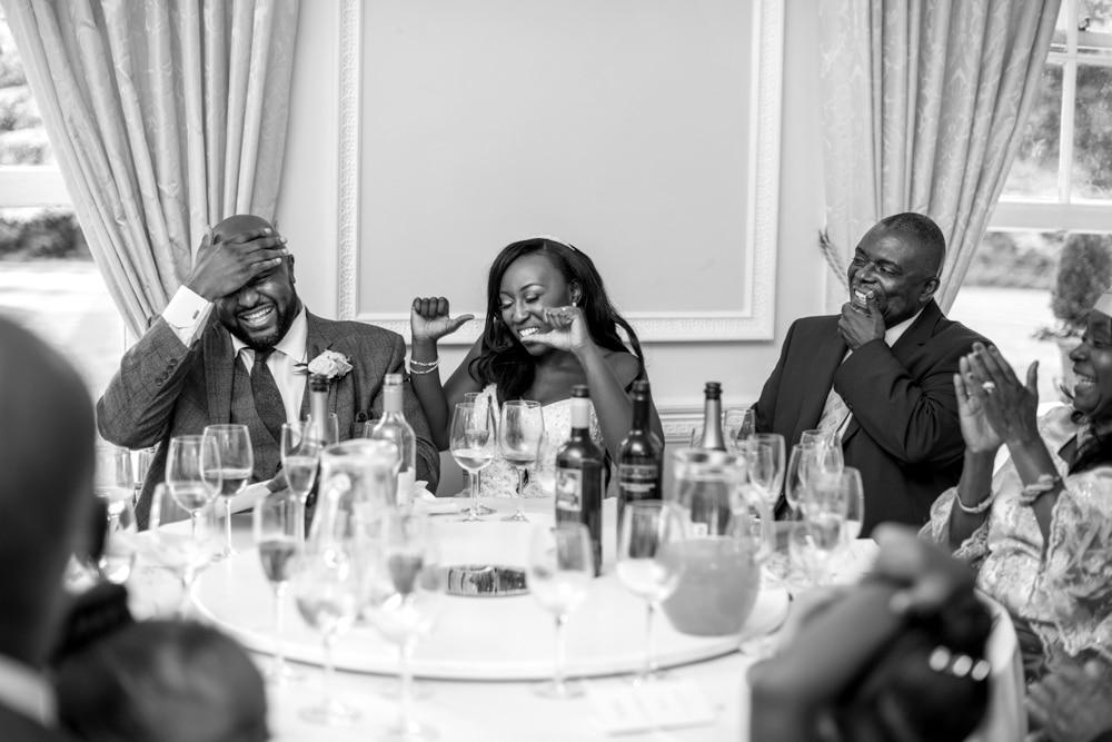 wedding speeches at High Elms Manor