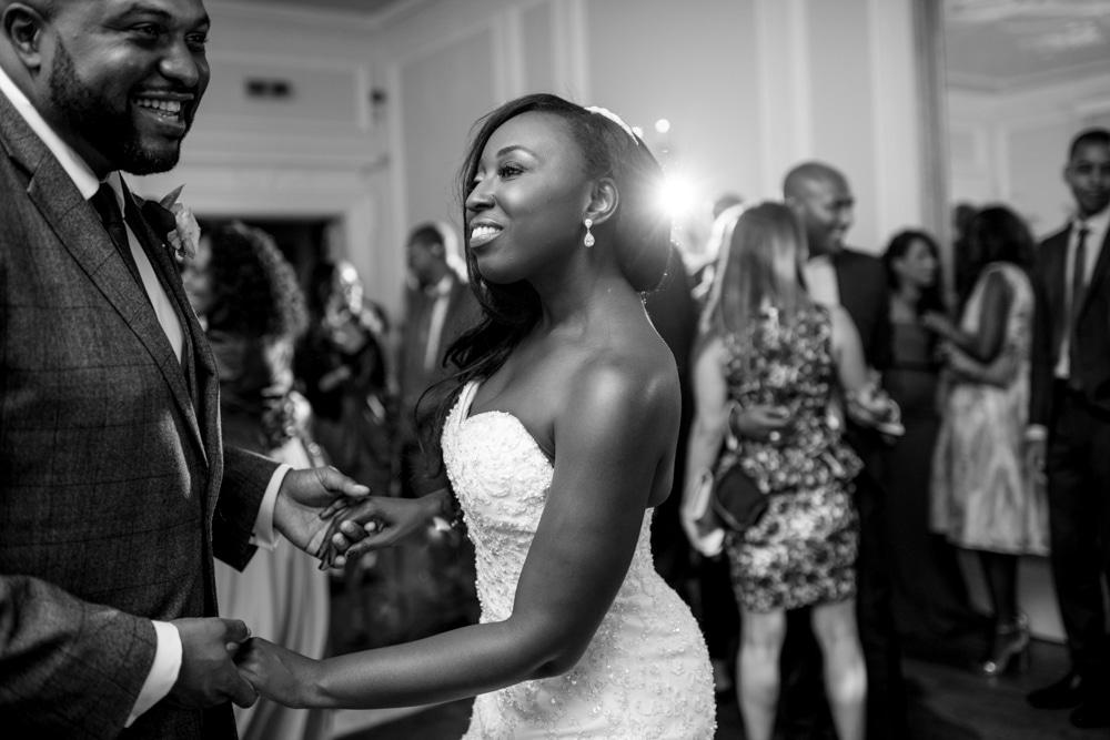bride on dance floor at High Elms Manor Wedding