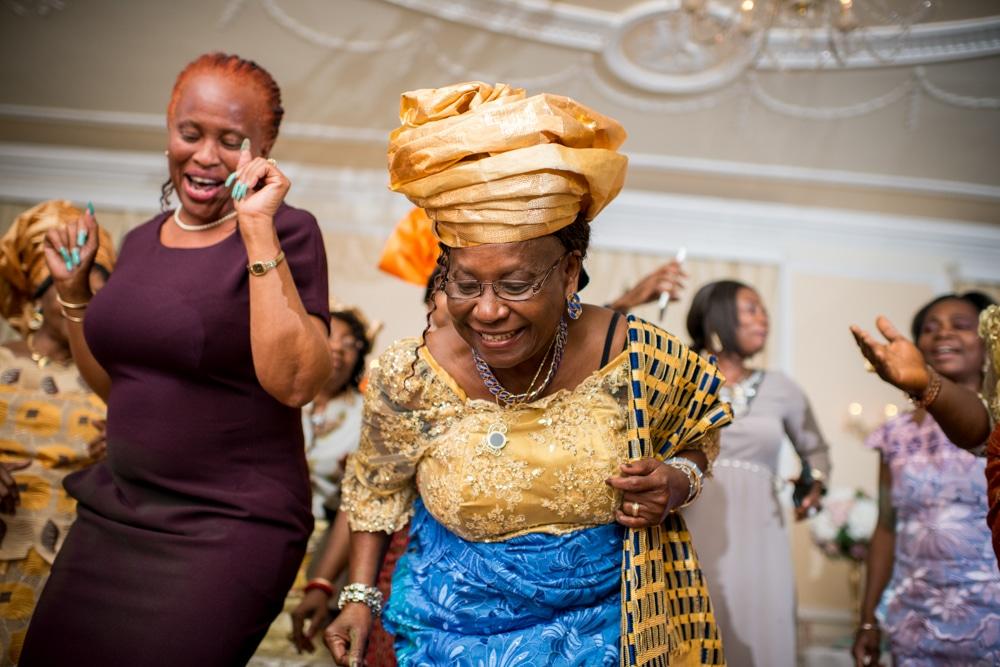 High Elms Manor Weddingguests on dance floor