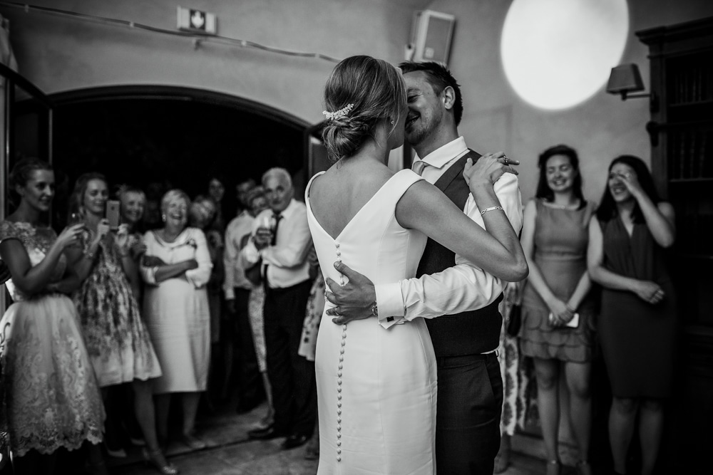 first dance at wedding speeches at Le Mas de La Rose wedding