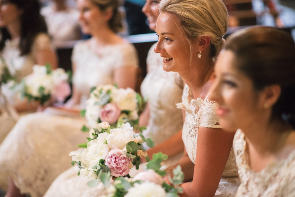 bridesmaids in church in France