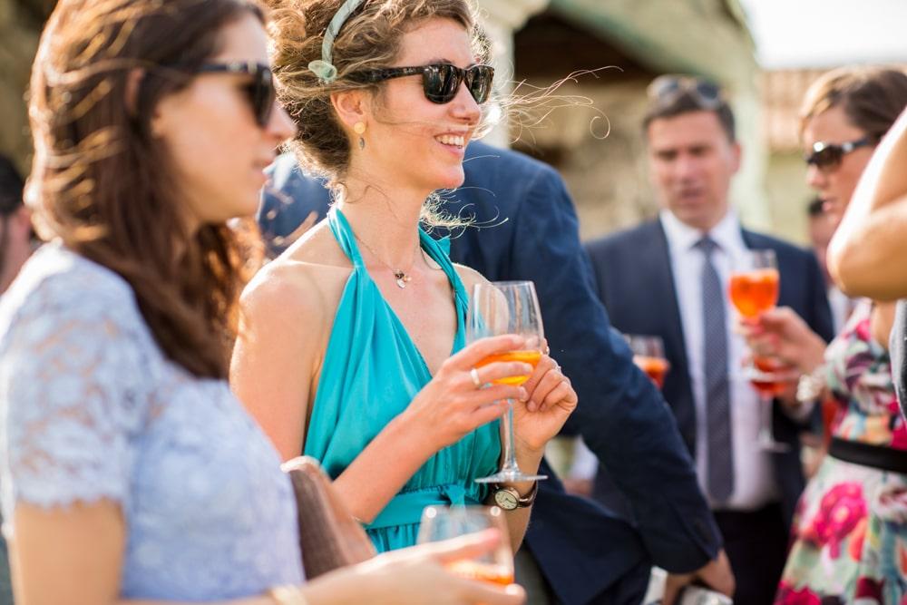 guests during reception at Le Mas de La Rose wedding venue