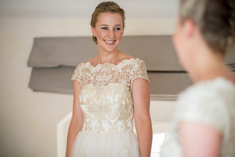 ivory lace bridesmaids dresses