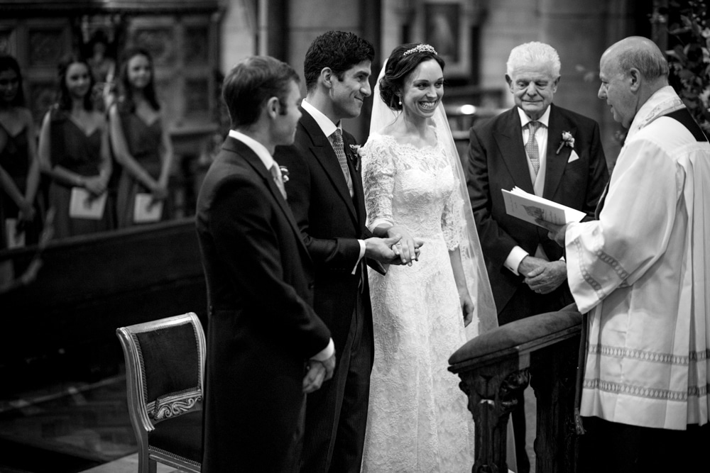 St james Church London wedding ceremony