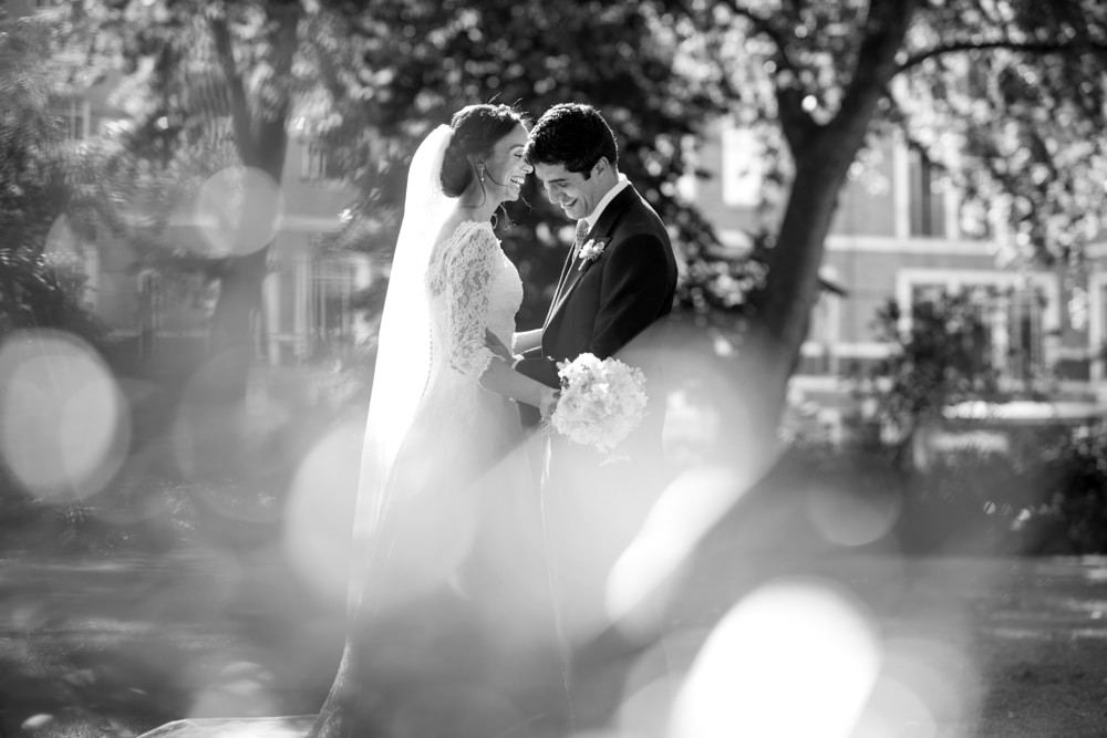 London gardens wedding portrait