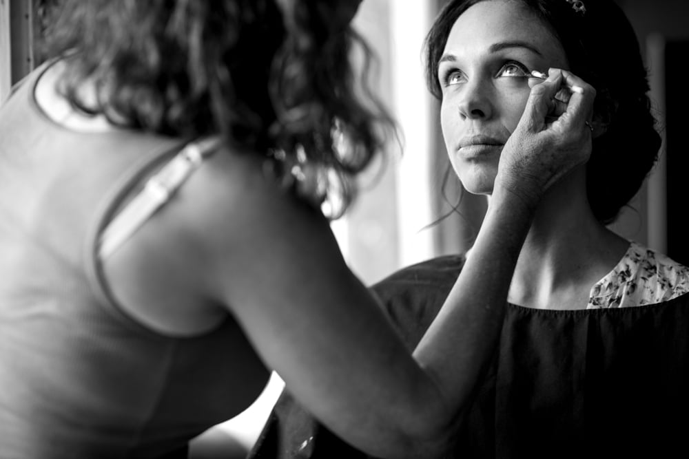 bridal preparations at The Savile Club London Wedding