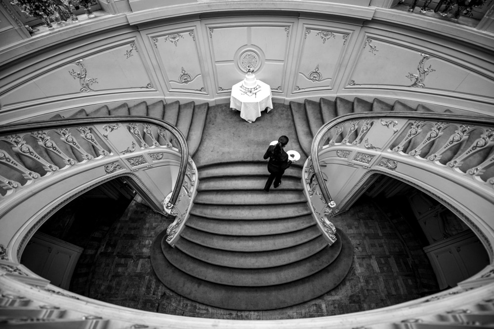 sweeping staircase at The Savile Club London