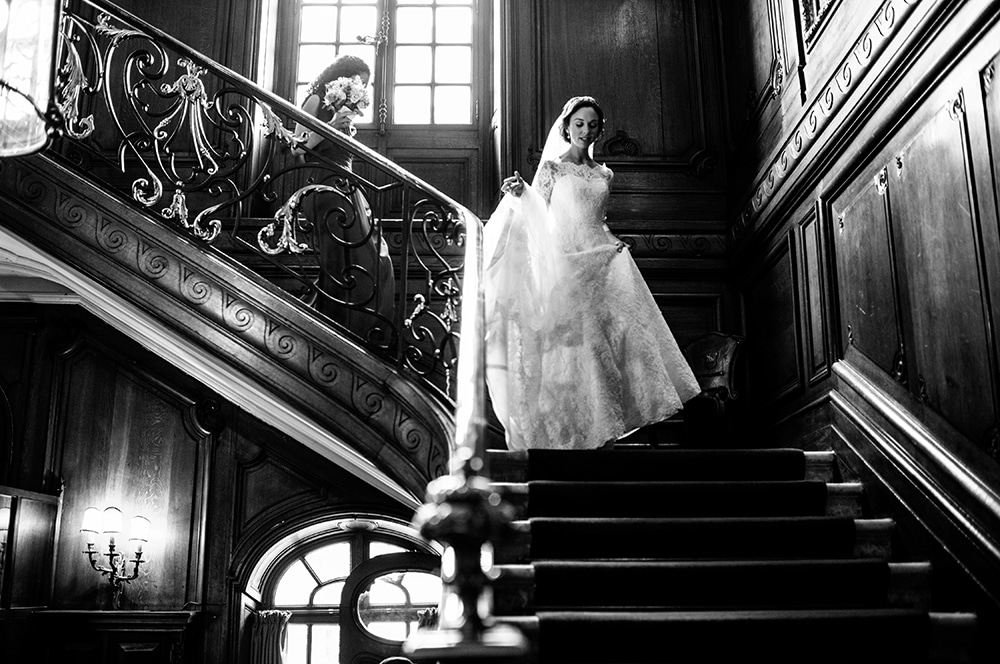 The Savile club London wedding staircase