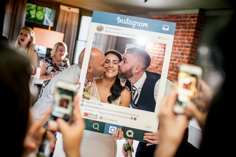 Instagram frame prop for wedding