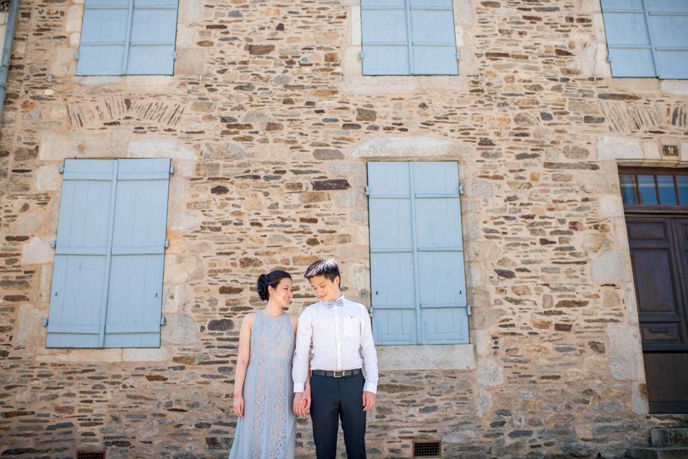 pre wedding shoot in French village