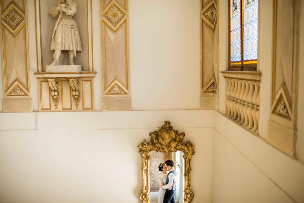 chateau de Laurantie wedding portrait of couple