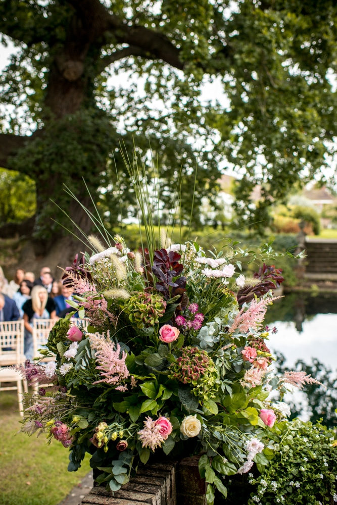 bouquet around the lake at Micklefield Hall