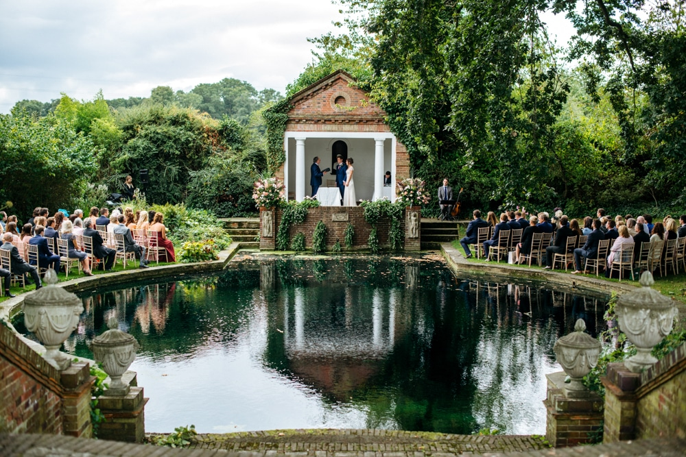 Micklefield Hall wedding around the lake