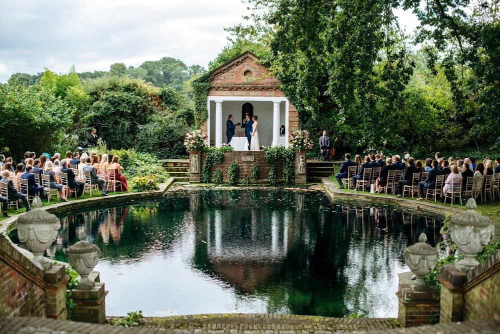 Micklefield Hall wedding around the lake