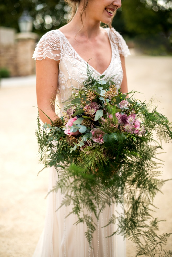 Wedding bouquet with ferns