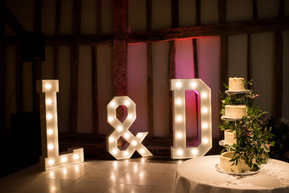 wedding light letters