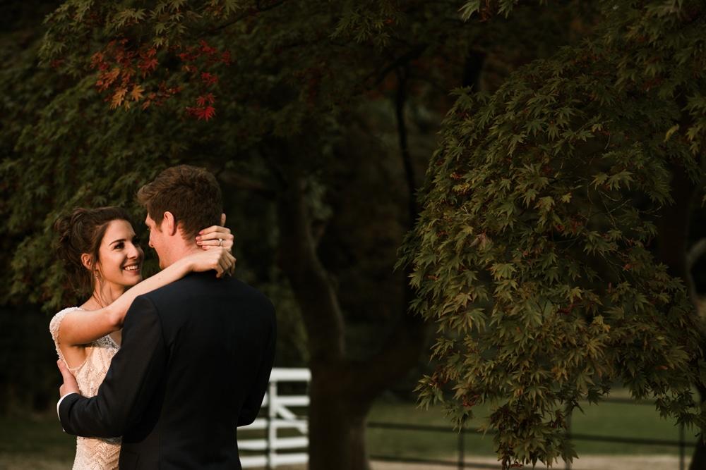 golden light during couple shoot
