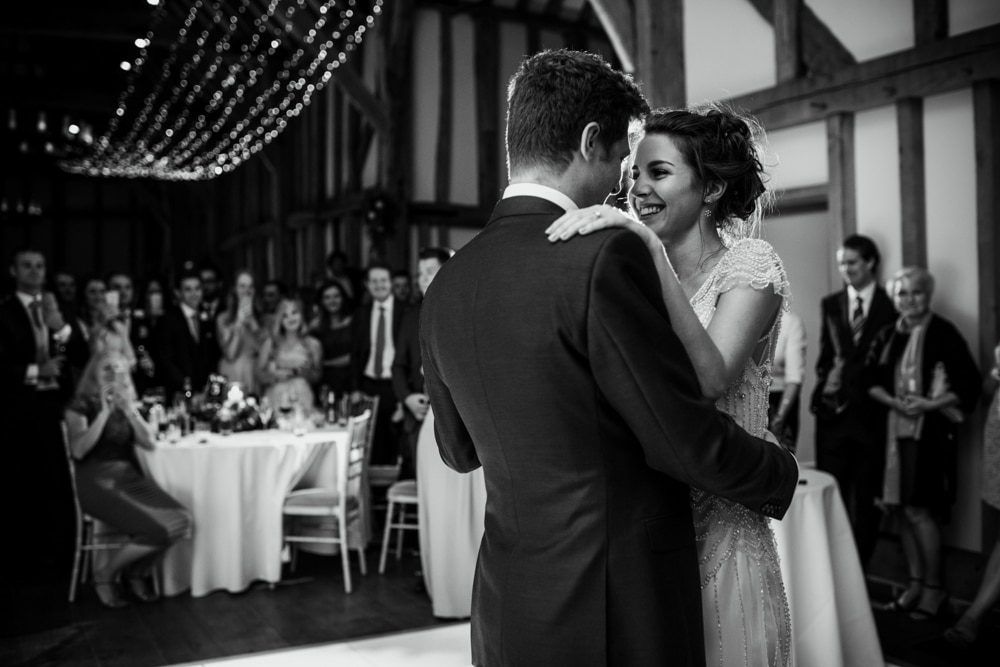 bride and groom first dance at Micklefield Hall