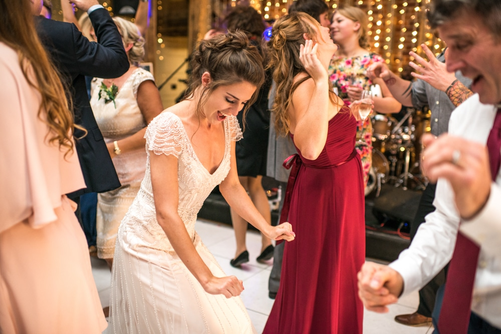 bride on dance floor at Micklefield Hall